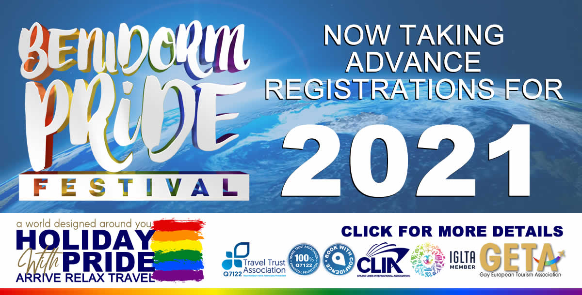 Holiday With Pride - Exclusive LGBT+ Trips - Benidorm Pride 2021 (Advance Registrations)