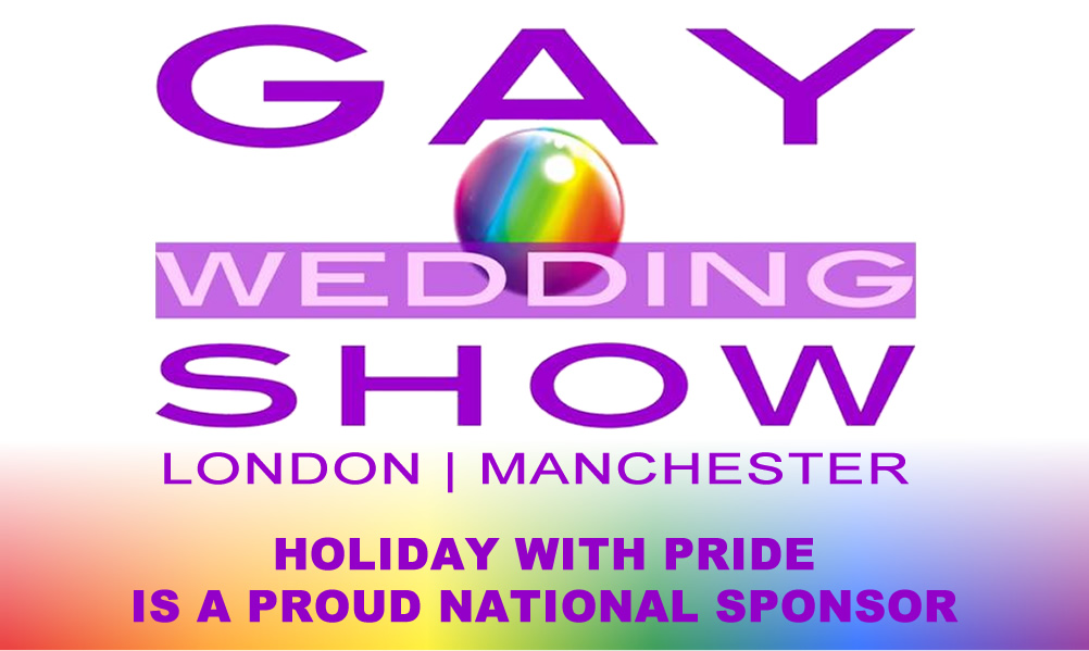 Holiday With Pride - Proud National Sponsor of the gay wedding show