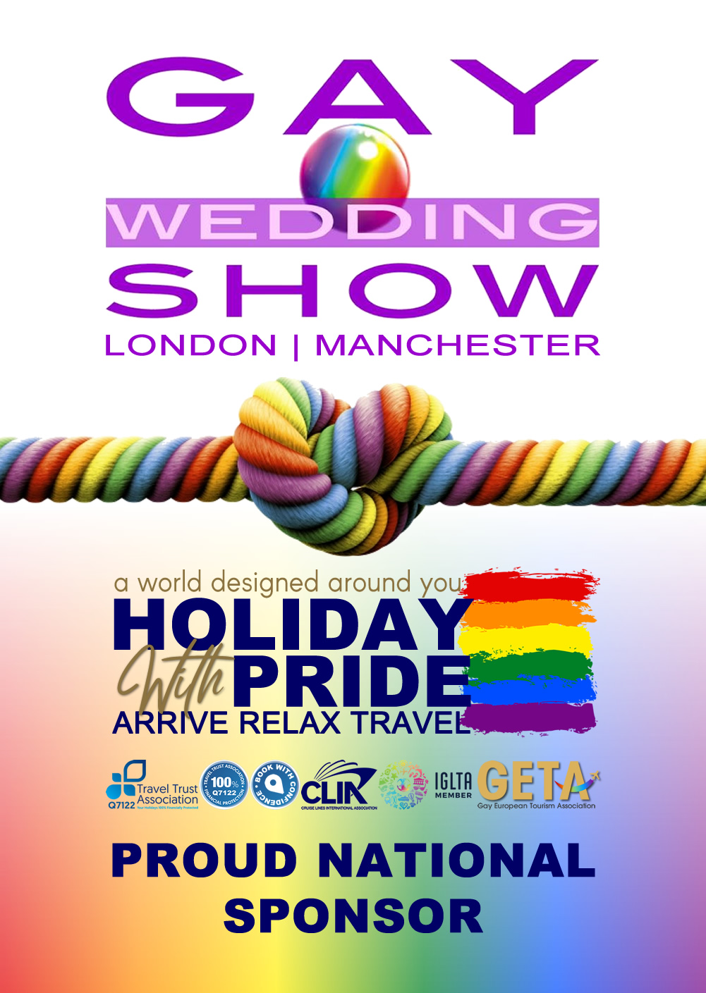 Holiday with Pride is a proud national sponsor of the Gay Wedding Show in London and Manchester