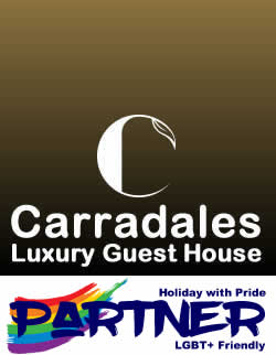 Holiday with Pride - Specialist in LGBT+ Holidays Travel and Short Breaks (Carradales Luxury Guest House Advert)